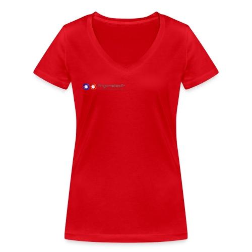 LogoFrigoriste couleur png - T-shirt bio col V Stanley & Stella Femme