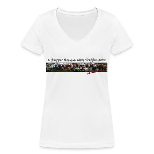 shirtgruppevinerhand - Frauen Bio-T-Shirt mit V-Ausschnitt von Stanley & Stella