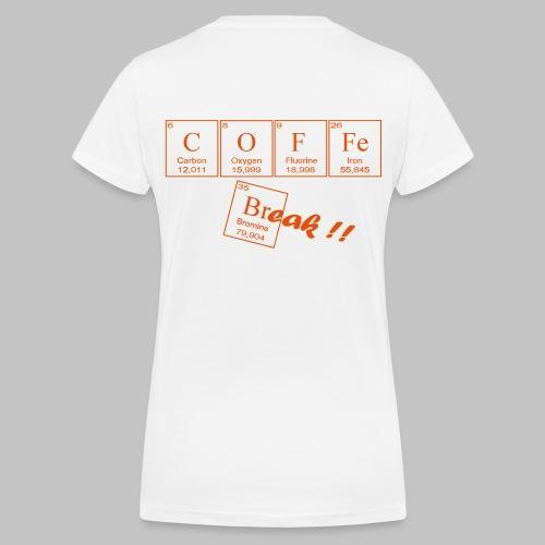 Coffee Break - Women's Organic V-Neck T-Shirt by Stanley & Stella