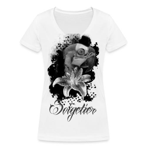 papagei - Frauen Bio-T-Shirt mit V-Ausschnitt von Stanley & Stella