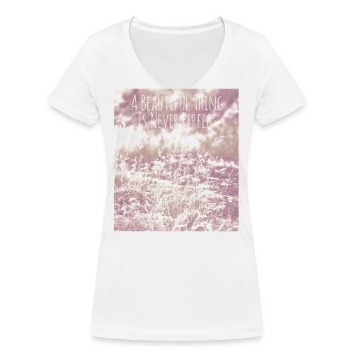 straw - Frauen Bio-T-Shirt mit V-Ausschnitt von Stanley & Stella
