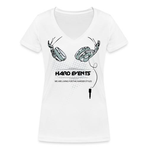 dj t shirt template hardevents png - Frauen Bio-T-Shirt mit V-Ausschnitt von Stanley & Stella