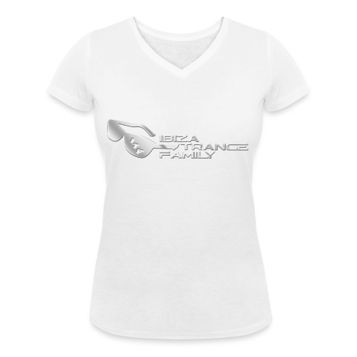 Chrome Logo 1 no shadow png - Women's Organic V-Neck T-Shirt by Stanley & Stella