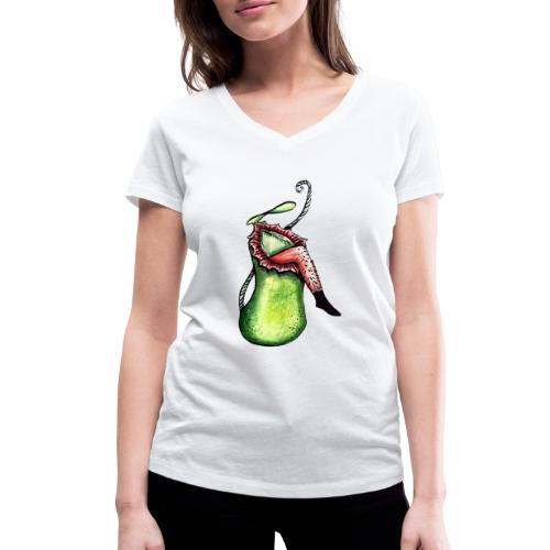 Sarracenia hat Hunger - Frauen Bio-T-Shirt mit V-Ausschnitt von Stanley & Stella