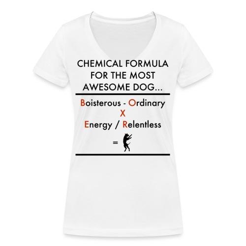 Chem Formula Black text - Women's Organic V-Neck T-Shirt by Stanley & Stella