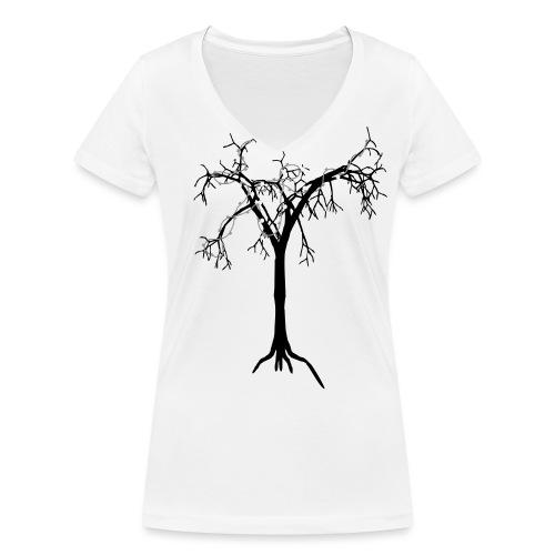ensamheten - Ekologisk T-shirt med V-ringning dam från Stanley & Stella