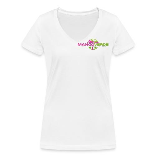Mango Verde logo - Frauen Bio-T-Shirt mit V-Ausschnitt von Stanley & Stella