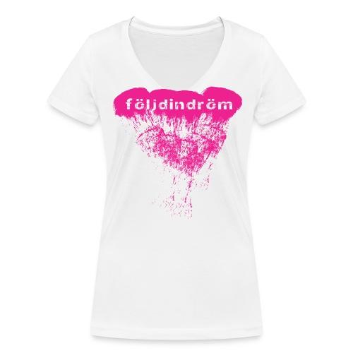 tshirt cloud pink png - Ekologisk T-shirt med V-ringning dam från Stanley & Stella