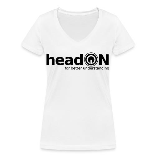 headon Logo SW - Frauen Bio-T-Shirt mit V-Ausschnitt von Stanley & Stella