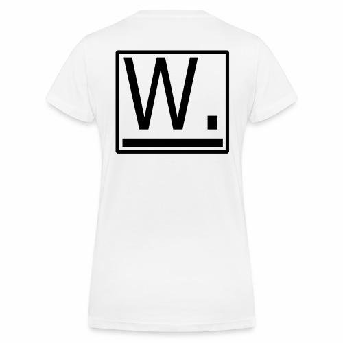 W. - Vrouwen bio T-shirt met V-hals van Stanley & Stella