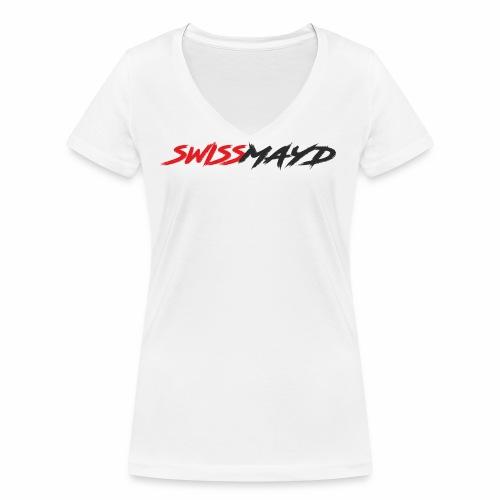 Logo Swissmayd - Frauen Bio-T-Shirt mit V-Ausschnitt von Stanley & Stella