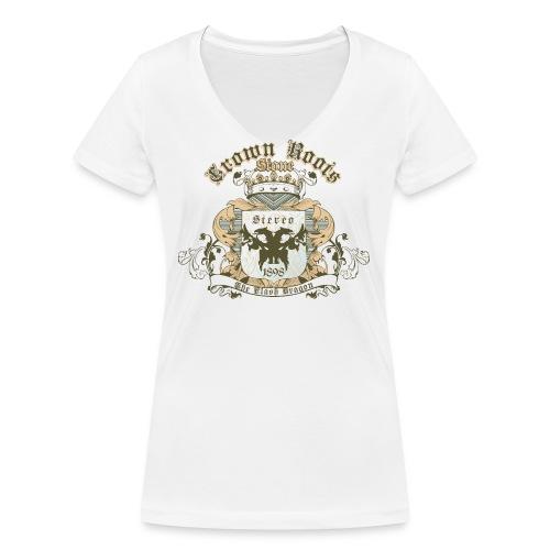 Crown Roots - Frauen Bio-T-Shirt mit V-Ausschnitt von Stanley & Stella