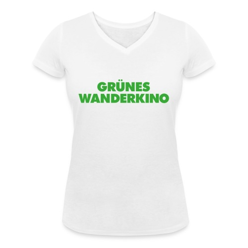 GRÜNES WANDERKINO grün - Frauen Bio-T-Shirt mit V-Ausschnitt von Stanley & Stella