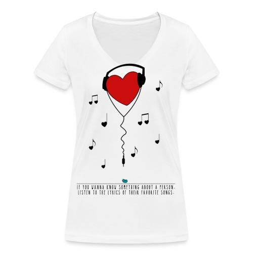 music vorne gif - Frauen Bio-T-Shirt mit V-Ausschnitt von Stanley & Stella