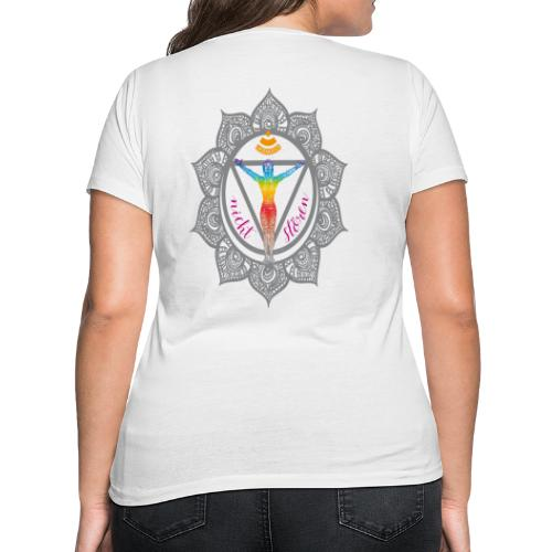 Yoga-Sonnengruß-Chakra - Frauen Bio-T-Shirt mit V-Ausschnitt von Stanley & Stella