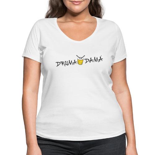 KOMBI - dd logo auf WEISS - Frauen Bio-T-Shirt mit V-Ausschnitt von Stanley & Stella