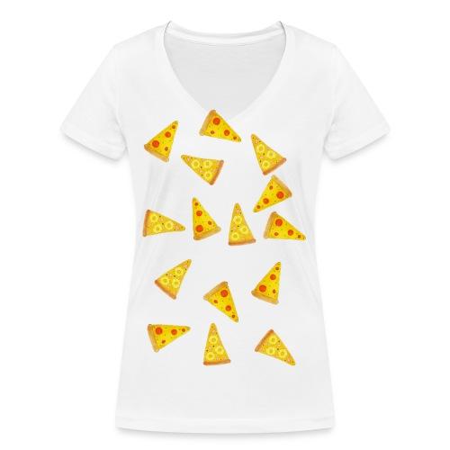Pizza is Bae - Frauen Bio-T-Shirt mit V-Ausschnitt von Stanley & Stella