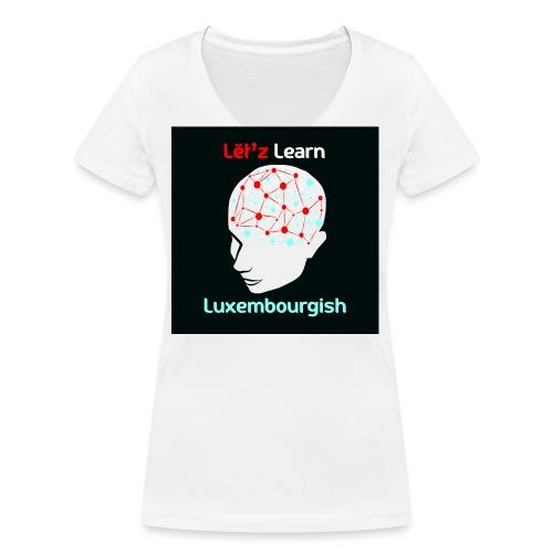 letzlearnlux(print) - Frauen Bio-T-Shirt mit V-Ausschnitt von Stanley & Stella