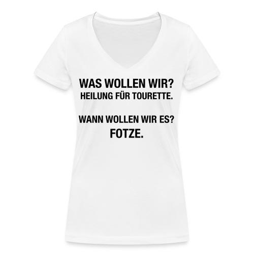 Tourette - Frauen Bio-T-Shirt mit V-Ausschnitt von Stanley & Stella