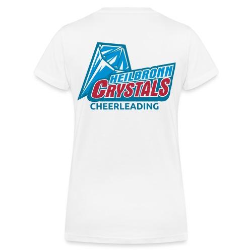 Crystals Logo - Frauen Bio-T-Shirt mit V-Ausschnitt von Stanley & Stella