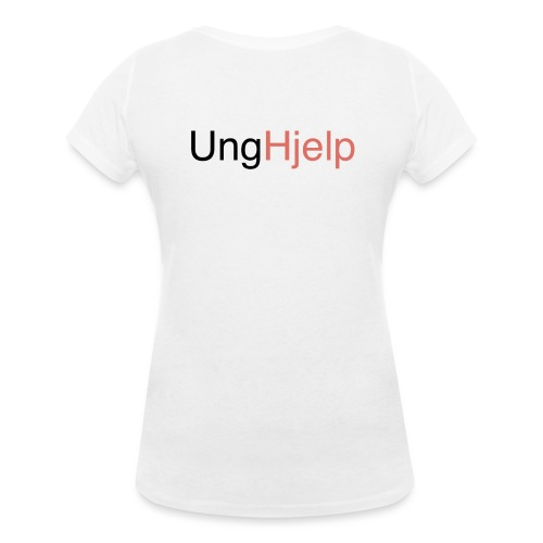 unghjelp sort - Økologisk T-skjorte med V-hals for kvinner fra Stanley & Stella