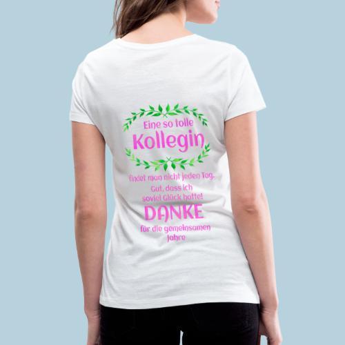 Danke - Kollegin - Geschenk - Arbeit - Büro - Job - Frauen Bio-T-Shirt mit V-Ausschnitt von Stanley & Stella