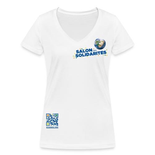 SDS2014 bloc titre DROIT bleu HD VR png - T-shirt bio col V Stanley & Stella Femme