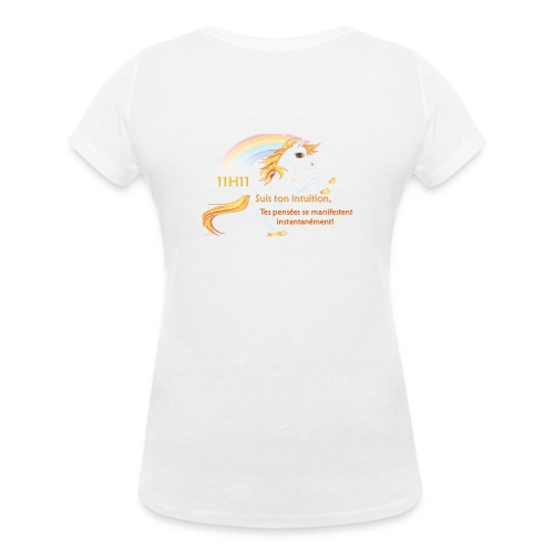 11h11 licorne or - T-shirt bio col V Stanley & Stella Femme