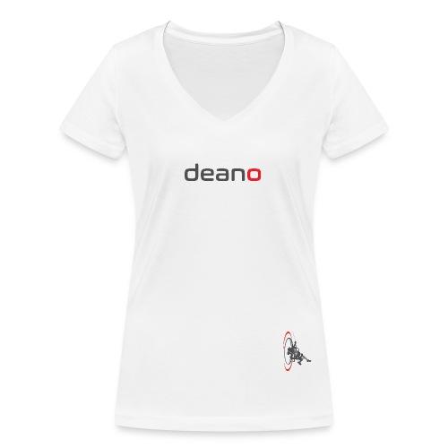 deano logo - Women's Organic V-Neck T-Shirt by Stanley & Stella