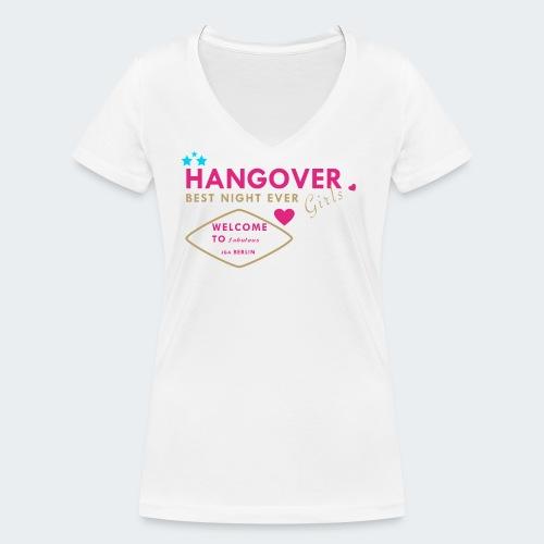 JGA female front - Frauen Bio-T-Shirt mit V-Ausschnitt von Stanley & Stella