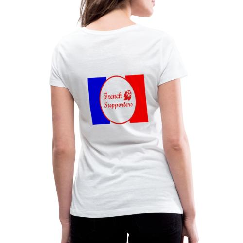 French supporters - T-shirt bio col V Stanley & Stella Femme