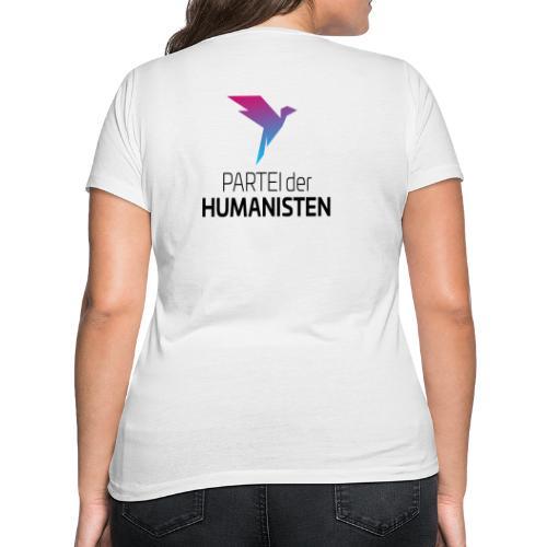 Statement Logo beidseitig - Frauen Bio-T-Shirt mit V-Ausschnitt von Stanley & Stella