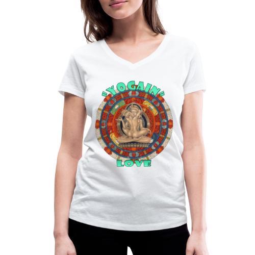 YogaIn Love - T-shirt ecologica da donna con scollo a V di Stanley & Stella