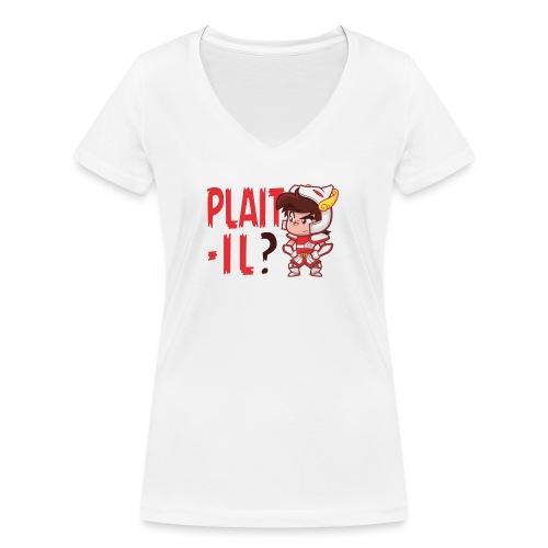 Seyar Plaît il rouge - T-shirt bio col V Stanley & Stella Femme