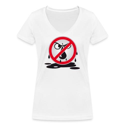 Erdöl - Nein danke! - Frauen Bio-T-Shirt mit V-Ausschnitt von Stanley & Stella