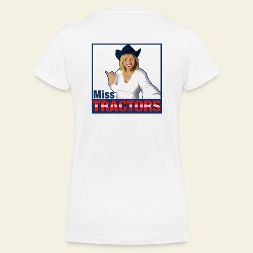 Miss Tractors Logo - T-shirt ecologica da donna con scollo a V di Stanley & Stella
