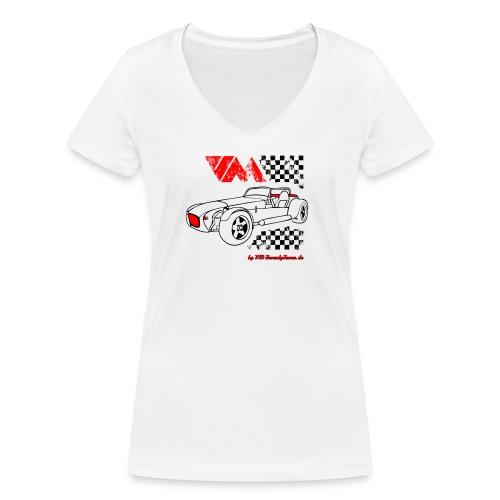 77 vm schwarz - Frauen Bio-T-Shirt mit V-Ausschnitt von Stanley & Stella