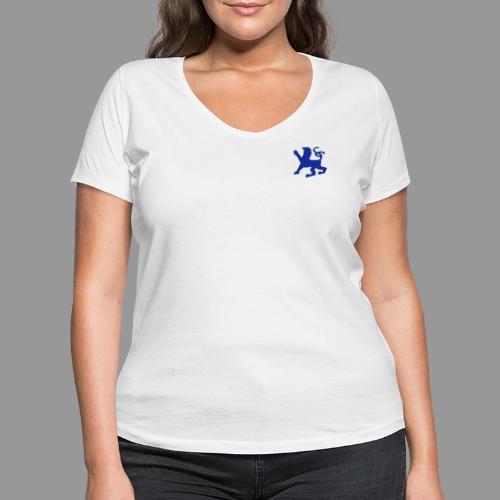 Löwe + angus von ardingen - sempergravis - Frauen Bio-T-Shirt mit V-Ausschnitt von Stanley & Stella