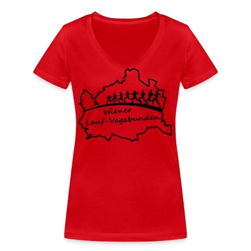Laufvagabunden T Shirt - Frauen Bio-T-Shirt mit V-Ausschnitt von Stanley & Stella