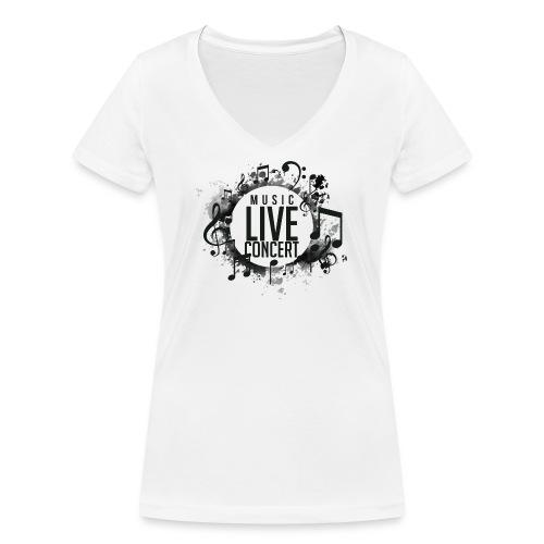 musica - Camiseta ecológica mujer con cuello de pico de Stanley & Stella