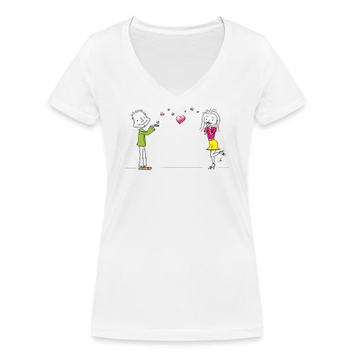Happiness - Frauen Bio-T-Shirt mit V-Ausschnitt von Stanley & Stella