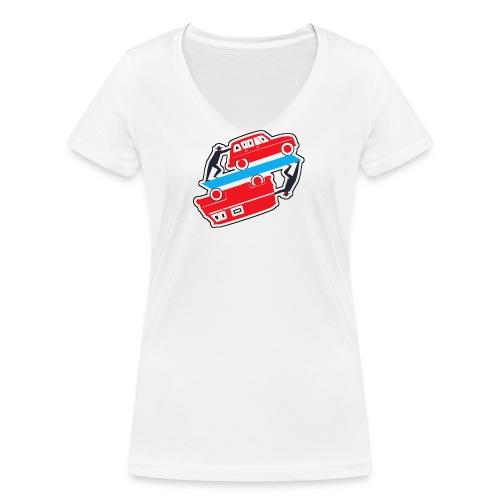 Logo vehicules-anciens.fr - T-shirt bio col V Stanley & Stella Femme