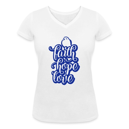 typo kinder 2016outline c - Frauen Bio-T-Shirt mit V-Ausschnitt von Stanley & Stella