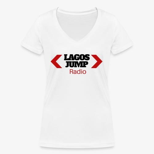 LagosJump Radio (Black) 1 - Women's Organic V-Neck T-Shirt by Stanley & Stella