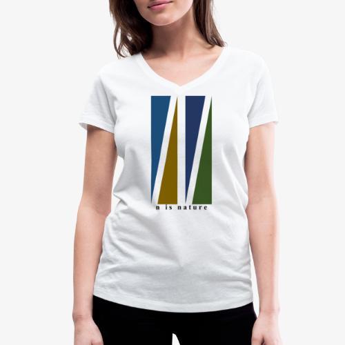 n is nature - Camiseta ecológica mujer con cuello de pico de Stanley & Stella