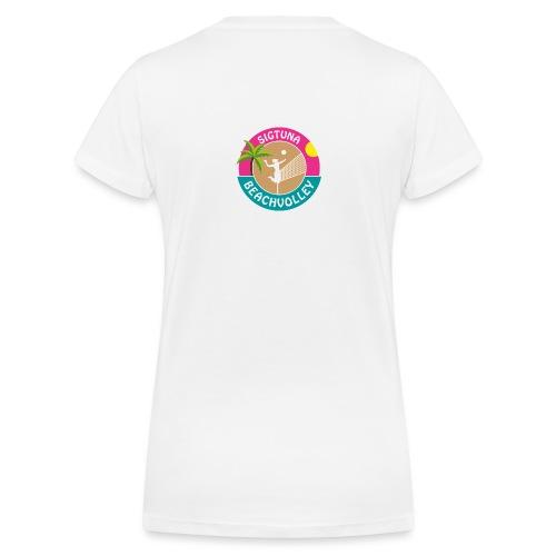SigtunaBeachvolley - Ekologisk T-shirt med V-ringning dam från Stanley & Stella
