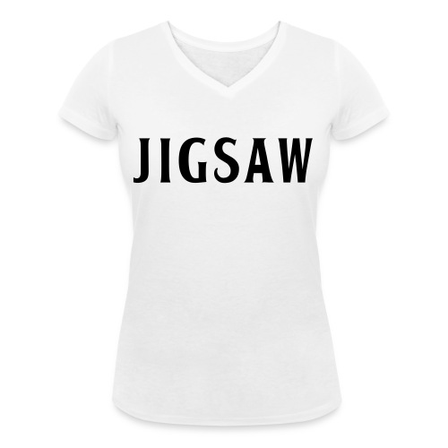JigSaw Black - Women's Organic V-Neck T-Shirt by Stanley & Stella