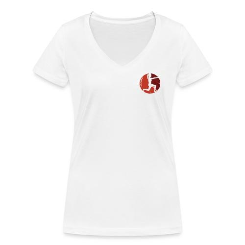 Transparent logo - Women's Organic V-Neck T-Shirt by Stanley & Stella