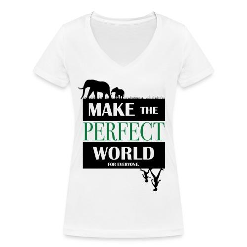 Save the elephant Framsida Vilma Tenghult 01 png - Ekologisk T-shirt med V-ringning dam från Stanley & Stella