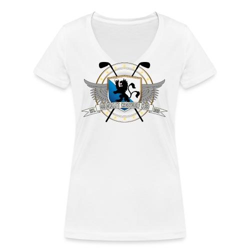 Goldcoast Crossgolf Club Logo - Frauen Bio-T-Shirt mit V-Ausschnitt von Stanley & Stella